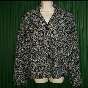 SAG HARBOR black white and gray women's blazer